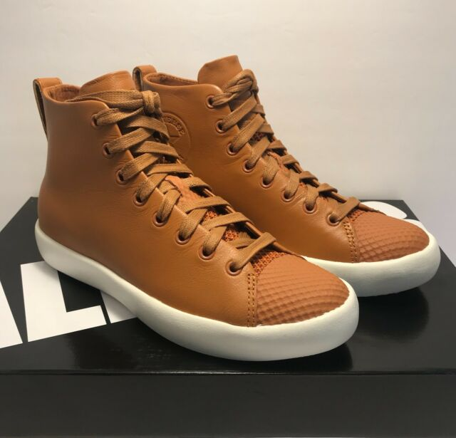 Converse Mens Size 8 Womens Size 9.5 CTAS Modern Hi Brown Leather Sneakers Shoes