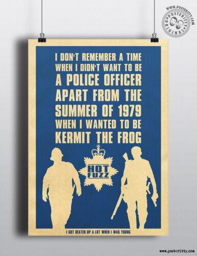 HOT FUZZ Quote Minimalist Poster Minimal Print Posteritty Cornetto Trilogy Art