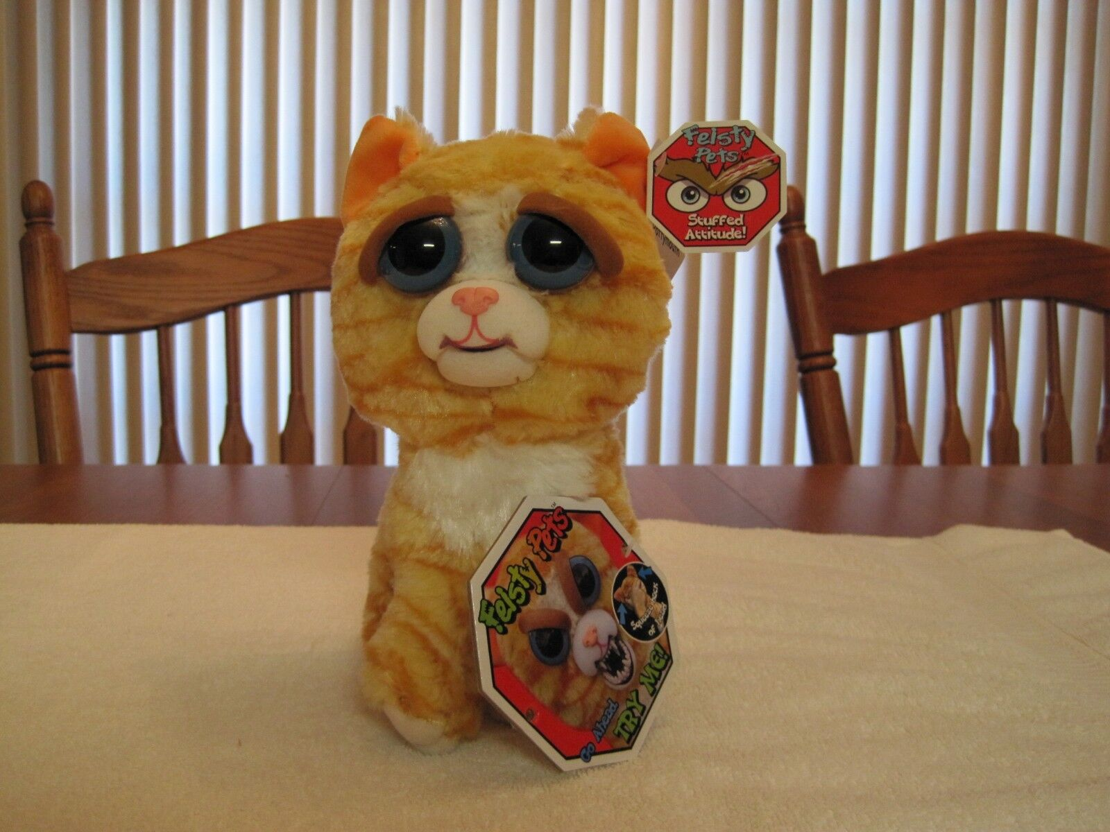 FEISTY PETS BY WILLIAM MARK PRINCESS POTTYMOUTH POTTYMOUTH POTTYMOUTH PLUSH STUFFED CAT--NEW WITH TAGS 3bf567