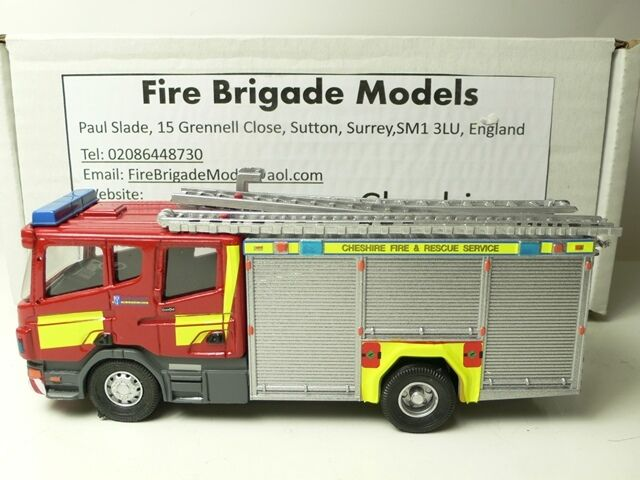 SCANIA P 270 FIRE ENGINE 150 CHESHIRE by FIRE BRIGADE MODELS