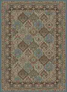 8x10 Area Rug New Large Huge Traditional Border Panel Blue