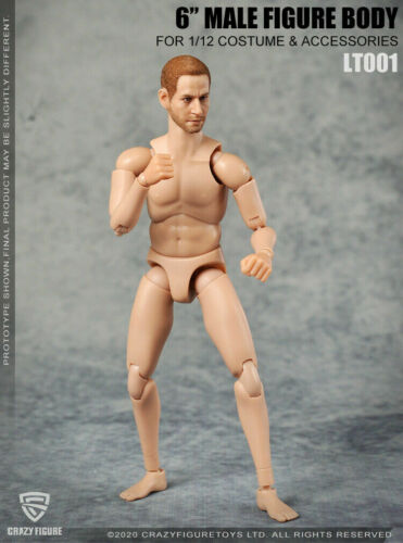 Crazy Figure 1//12  Male Multiple Joint Movable Male Action Figure LT001 Toy Body