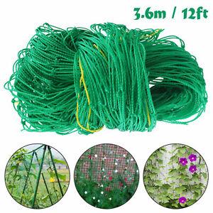 12FT Garden Plant Climbing Net Trellis Netting Mesh For Fruits Vine Veggie Bean