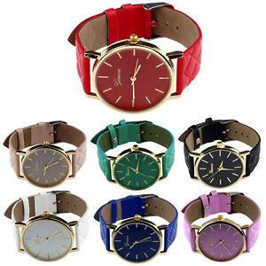 Unisex-Casual-Womans-Mans-Geneva-Checkers-Faux-Leather-Quartz-Analog-Wrist-Watch