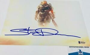 Steve-Downes-signed-METALLIC-8X10-photo-Master-Chief-Beckett-Witness-BAS-M62302