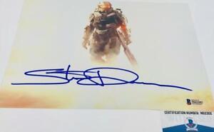 Steve-Downes-signed-METALLIC-8X10-photo-Master-Chief-Beckett-Witness-BAS-M62302