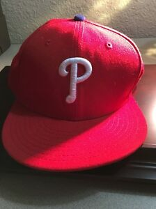 huge discount 33dd6 3496a Image is loading Philadelphia-Phillies-Red-On-Field-MLB-Authentic-Size-