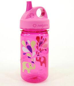 Nalgene-Grip-039-n-Gulp-Bottle-Elephant-Pink-12oz