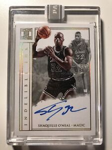 1/1 Shaquille O'Neal 2017-18 Impeccable Basketball Indelible Ink On Card Auto