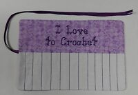 i Love To Crochet Hook Holder Case Holds 13 Hooks Butterfly Print A89
