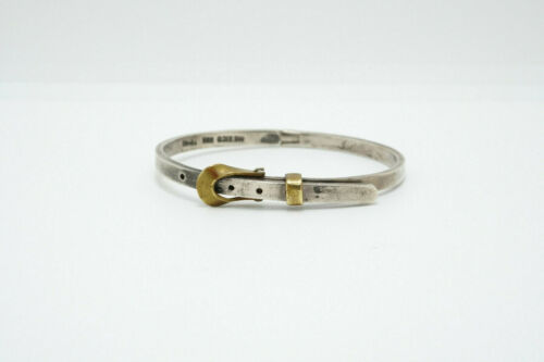 Vintage Taxco Mexico Sterling Silver Latch Buckle Ring Sz 7