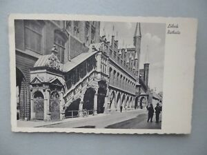 Ansichtskarte-Luebeck-Rathaus-Nr-611