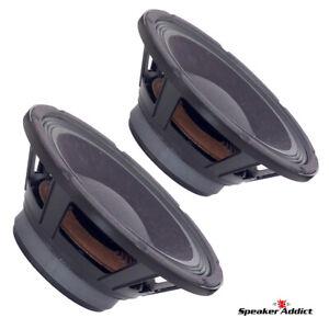PAIR-Peavey-10-inch-8ohm-bass-guitar-speaker-BAM-1038-MI-Midbass-Woofer-Eminence