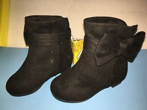 7163ac4ad4 Image is loading New-Payless-SmartFit-Black-Gracie-Fashion-Boots-Toddler-