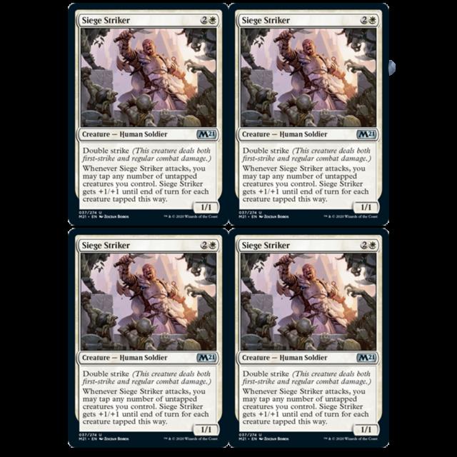 x4 siege striker 037//274 uncommon core set 2021