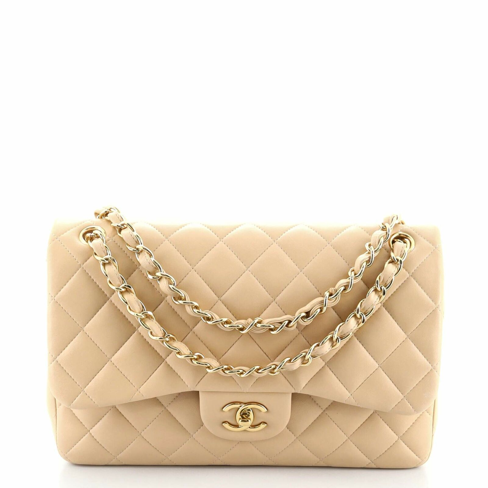 Chanel Classic Double Flap Bag Quilted Lambskin J… - image 1
