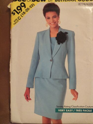 VTG 90s BUTTERICK MS//Wmns Jacket Top Dress Skirts Pants PATTERNS All 18-20-22 UC
