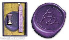 Sealing Wax Kit Triquetra NEW Wicca Trinity Knot 17mm Seal Purple Wax stick