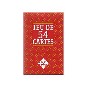 JEU DE 54 CARTES PLASTIFIEES - FORMAT POKER - CARTA MUNDI - DOS ECOSSAIS - NEUF
