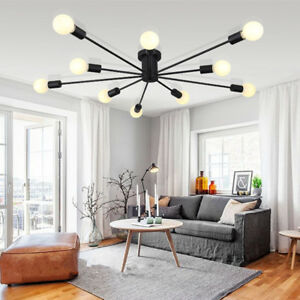 Modern Ceiling Light Living Room Black Chandelier Bedroom Led Pendant Lighting 6173285958336 Ebay