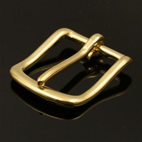 3pcs Solid Brass Belt Buckle End Bar Heel bar Buckle Single Pin Belt Half Buckle