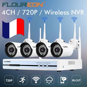 Sans Fil WIFI 4CH 1080P DVR NVR 720P IR Caméra CCTV Système de Surveillance Kits