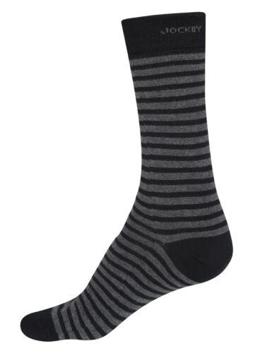 Jockey Mens Designer Multi 3 Pack Plain Business Luxury Cotton Crew Calf Socks