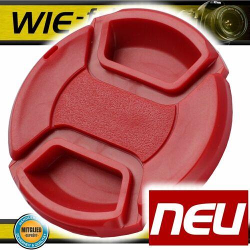 52mm objetivamente tapa rojo lens cap abrazadera para 52mm cámara objetiva