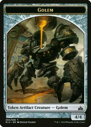 004//006 M//NM - Rivals of Ixalan 10x Magic the Gathering Golem Token