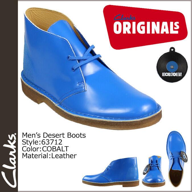 Clarsk Originals DESERT Stiefel   COBALT Blau PAT   89.99  UK 8.5 F