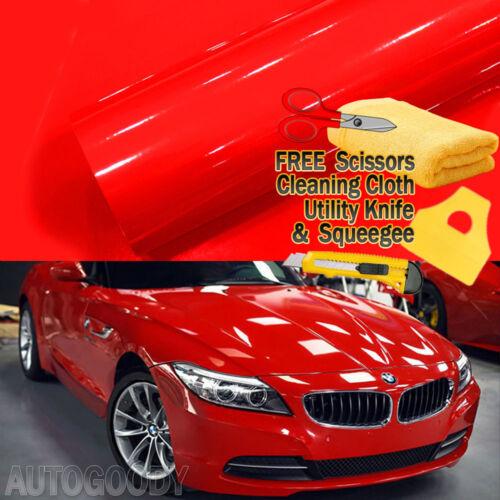 Premium High Gloss Vinyl Film Car Wrap Sticker Decal DIY Bubble Free Air Release