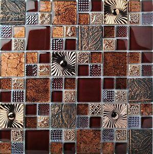 Red Wine Glass Leaf Fossil Resin Carving Wall Backsplash