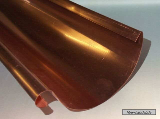 Dachrinne Kupfer, Längen 1m & 2m, Größen zur Auswahl, Berechnungsservice