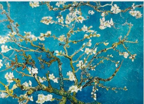 Van Gogh Almond Blossom notelets envs  20 pack 250gsm card folded A6 blank