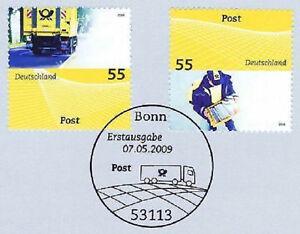 FidèLe Rfa 2009: Post Nº 2733 + 2734 Avec Le Bonner Ersttags-cachet Spécial! 1a-rstempel! 1afr-fr Afficher Le Titre D'origine