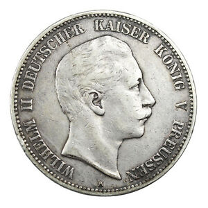 Piece-Argent-Allemagne-5-Mark-Guillaume-II-1903-Wilhelm-II-Germany-Silver-Coin