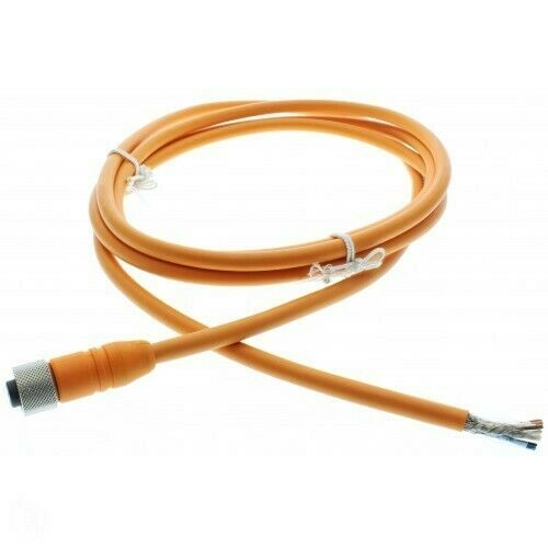 Serial  MFGD M12 8 Pin Molded Cable for CD33 -L Optex DOL1208-G02MF