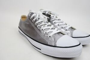 9489f4a5b573 Image is loading Converse-Low-Top-Shoes-Metallic-Silver-Color-Size-