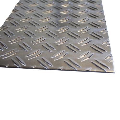 2,5//4 mm Aluminium Tränenblech Duett Riffelblech bis 1000x1000 mm 83,81€//m²