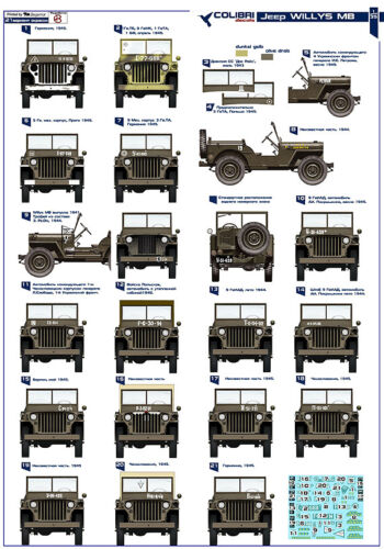 1:35 Colibri Decals #35001  Willys MB Red Army WWII  USSR Russia