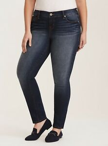 dc2566a3eb Torrid Skinny Jeans Size 22 Classic Fit Dark Wash Fading Plus ...