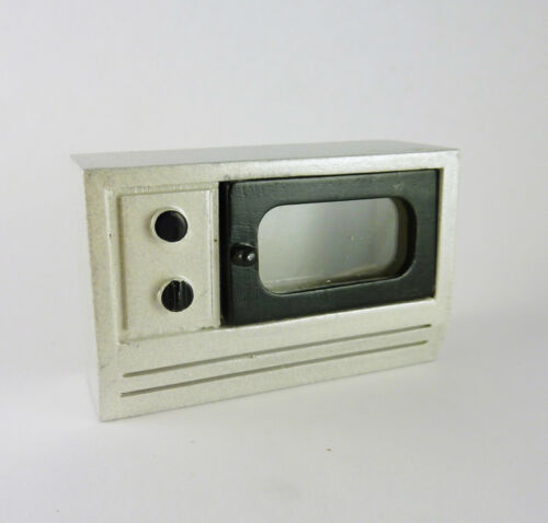 T5453 Dollhouse Miniature Stainless Steel Look Microwave CLOSEOUT