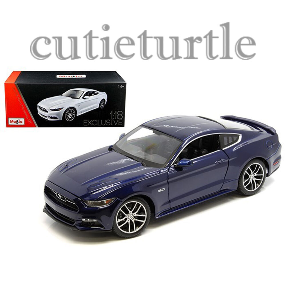 Maisto 2015 Ford Mustang GT 5.0 1 18 Diecast Exclusive Edition 38133 bluee