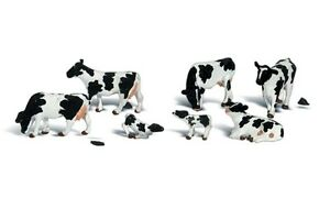 NEW-Woodland-Scenics-Holstein-Cows-N-Train-Figures-A2187