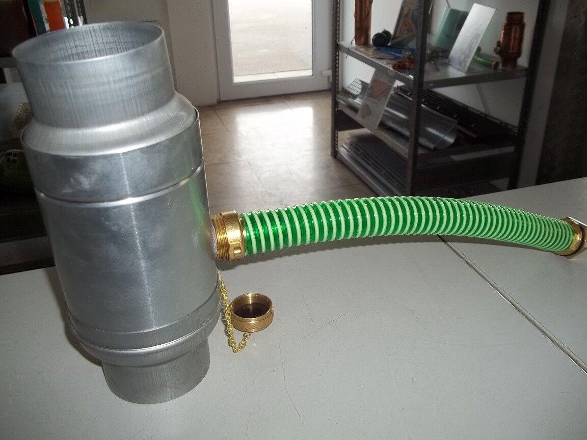 Regenwassersammler mit Schlauch und Anschlss-Set Zink 80 mm
