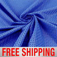 Football Mesh Athletic Fabric Sports Royal Blue 60 Wide. Free Shipping