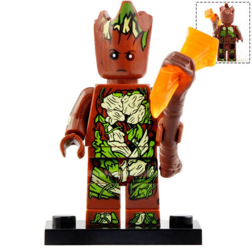 Marvel Universe Lego Moc Minifigure Toys Special Groot