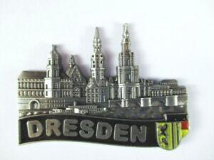 Dresden Elbcollage Metal Magnet Germany Souvenir, New