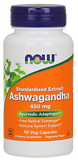 NOW Foods Ashwagandha Extract Veg Capsules, 450 mg, 90 Count