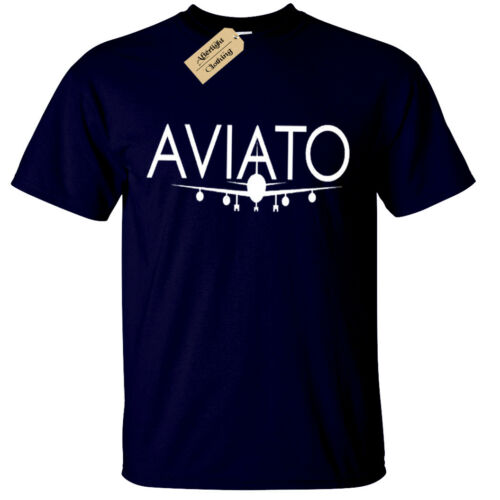 AVIATO MENS T SHIRT SILICON VALLEY NERD AIRPLACE COOL RETRO TV PLANE